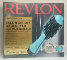 Revlon Pro Collection Salon One-Step Hair Dryer and Volumizer TEAL **OPEN BOX**