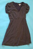 H&M Black Polka Dot Fit Flare Skater Style Lined Dress Eur 36