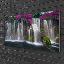 Tulup Glass print Wall art 100x50 Image Picture Waterfall Nature