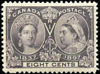 Canada Mint H 1897 VF Scott #56 8c Diamond Jubilee Stamp