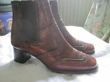Patrick Cox brogue boots size 35.5 leather upper leather sole RRP £349 ladies