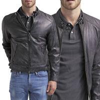 Giubbotto da uomo in pelle Terranova, giacca leather jacket