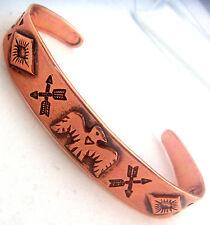 Copper Cuff Bracelet Wheeler Manufacturing Healing Arthritis Folklore cb 023