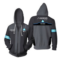 Detroit: Become Human Hoodie Hooded Sweater Connor RK800 Zipper Coat Cosplay