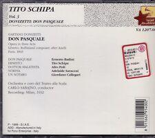 Donizetti DON PASQUALE Badini, Schipa, Poli, CARLO SABAJNO, MILANO 1932