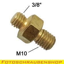 """Gewindeadapter Außengewinde 3/8""""- Außengewinde M10 (Fotoschraube, Adapter)"""