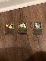 Metal Pokemon Cards Charizard Venusaur Blastoise 1st Base Set Black Custom