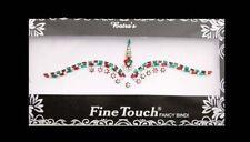 Bindi rouge rubis et vert bijou de peau auto adhesif strass pour les yeux 2605