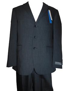 NWT Mens PERRY ELLIS PORTFOLIO Slim Athletic Fit Wool Suit Pleated Pants 43R 35W