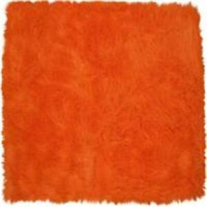 LA Rug FLK-006-3147 Flokati Orange- Orange