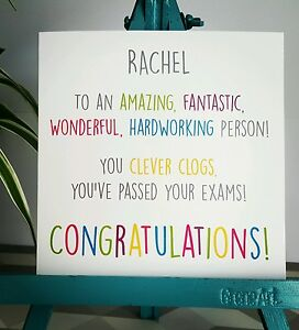 PERSONALISED Handmade Congratulations You've Passed Exams GCSEs Graduation Card