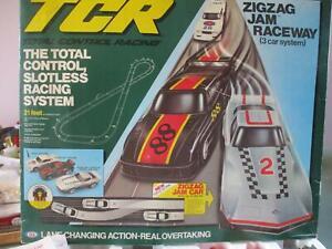 VINTAGE IDEAL Total Control Racing TCR ZIGZAG JAM RACEWAY 3 CAR SET