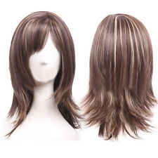 New Lady Anime Night Club Curly Wavy Straight Hair Cosplay Party Full Wigs Styli