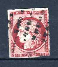 "FRANCE STAMP TIMBRE N° 6 d "" CERES 1F CARMIN CERISE 1853 "" OBLITERE SGNE P932"