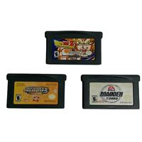 GameBoy Advance GBA Lot of 3 Dragonball Z Madden 2003 Tony Hawk Pro Skater