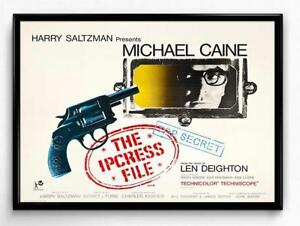 The Ipcress File Michael Caine Movie Film Poster Print Picture A3 A4
