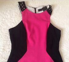 Stunning *Next* (size Uk 20) Colour block black/pink  Bodycon Dress BNWT