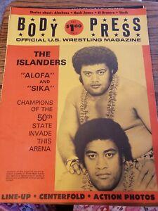 Wrestling magazine  vintage body press