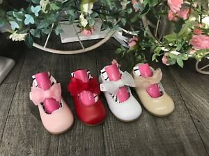 💖 Spanish Genuine Leather Maryjane Bow Shoes 💖 SMALL FITTING❣️4 Colours