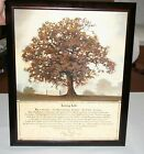 """Bonnie Mohr LIVING LIFE Tree Inspirational Quote Framed Print Picture 18"""" X 22"""""""