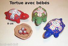 Tortue avec bébés dans son ventre, boite, céramique coloré,collection,tortues G8