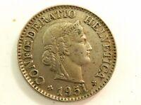 1951 Swiss Ten (10) Rappen Coin