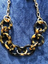 NWT! J Crew Faux Tortoise Shell Ring Statement Necklace SOLD OUT *GREAT GIFT*