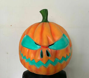 Scary Evil Pumpkin Head Mask Jack-O-Lantern Halloween Cosplay Masquerade Props