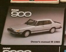 Nos Classic SAAB 900 Owners Manual 1985 Turbo Aero Airflow Service Book 8v 16v