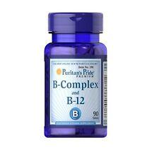 BPR038- VITAMINA B-COMPLEX + B-12 90cps Puritans  ANTI-ANEMIA  ENERGETICO