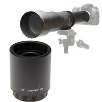 Jintu 2X Teleconverter For T-Mount 650-1300mm 900mm 420-800mm Telephoto Lens