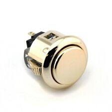 Sanwa OBSJ-24mm Snap-in Button-Metallic GOLD-OEM