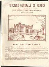 TOULOUSE PROGRAMME IMMOBILIER FONCIERE GENENALE DE FRANCE PALAIS CLEMENCE-ISAURE