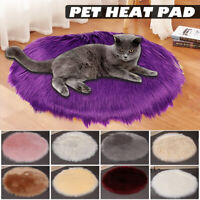 Electric Pet Heat Mat Plush Thermal Heated Pad Bunny Dog Cat Heating Blanket Bed