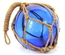 Bola Fischer Aprox. 15cm Cristal Azul Tejido en Uno Red Aus Cáñamo (Arnés )