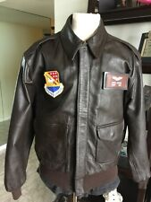 Avirex  DSCP A-2 Brown Flight USAF Bomber Leather Goatskin Jacket Sz 44 Long Lrg