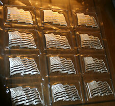 1 OZ..999 SILVER AMERICAN FLAG ART BAR<>WITH PROOF WAVE LOOK <> BEAUTIFUL.!!