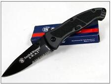 Couteau SMITH&WESSON SWAT S&W Black A/O Lame Acier 4034 Serrat SWATMBS