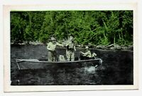 RPPC Real Photo Postcard Men Fishing Hand Colored
