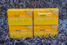 New Improved Royale Beauty KOJIC PAPAYA SOAP with Orange Scent Multibuy 4 Bars!!