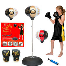Kids Boxing Punch Speed Ball Children's Training Adjustable Height Gloves Set