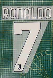 FLOCAGE Ronaldo #7 Juventus 2020-2021 Away Nameset.