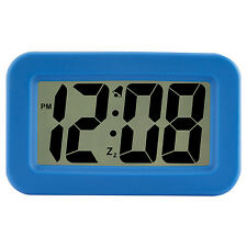 "6151A Advance Time Technology Large 1.25"" LCD Display Digital Alarm Clock - Blue"