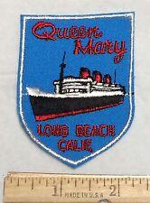 Queen Mary Cruise Ship Boat Long Beach California Travel Souvenir Patch Badge
