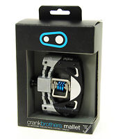 Crank Brothers Mallet 3 Platform Mountain Bike Pedals - Black/Silver/Blue