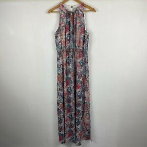 H&M Womens Maxi Dress Size 10 Multicoloured Floral Round Neck