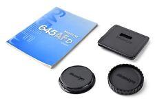 MAMIYA 645 PHASEONE protective caps + instruction manual 645 AFD
