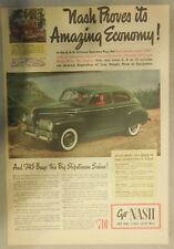 Nash Car Ad: Before You Decide, Take an Airflyte Ride 1946 Nash Ambassador 600