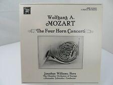 Wolfgang A. Mozart Four Horn Concerti Jonathan Williams LP Record Album Vinyl