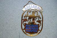 EDELBRÄU ALLGÄUER BRAUHAUS KEMPTEN Original altes Zapfhahnschild aus Messing